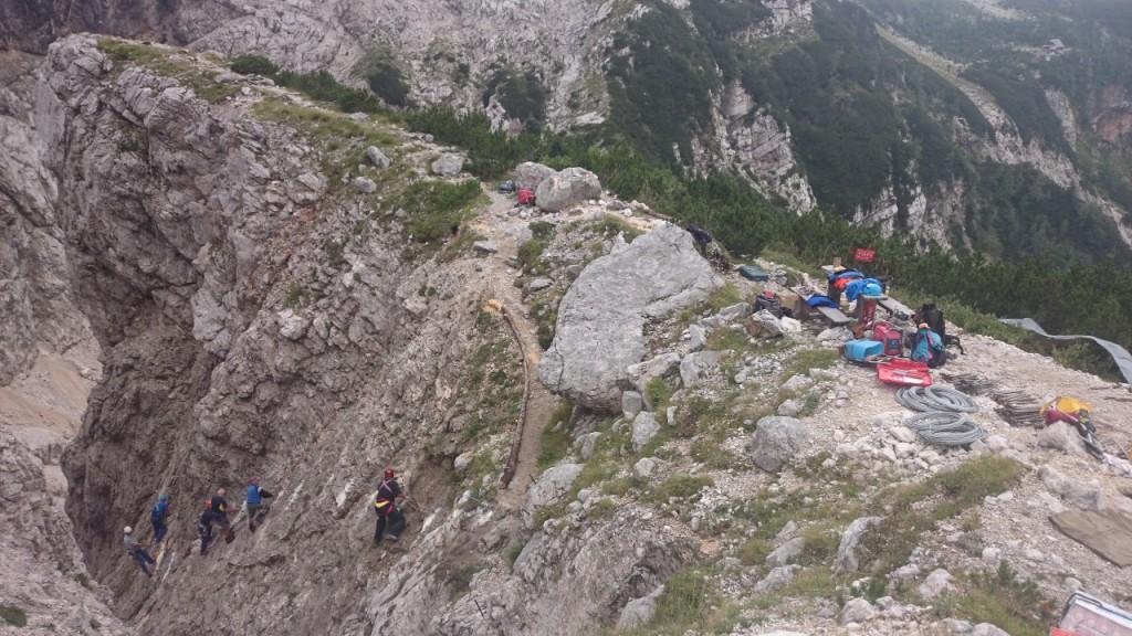 Obnova poti skozi Žrelo (Foto: Tine Marenče)